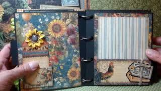 getlinkyoutube.com-Scrapbooking - Le Jardin mini album