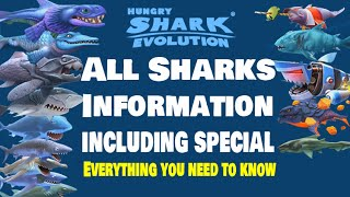 getlinkyoutube.com-Hungry Shark Evolution All Sharks Information - Everything you need to know about all the sharks