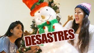 DESASTRES AL ADORNAR PARA NAVIDAD EN CASA | VLOG LOS POLINESIOS width=