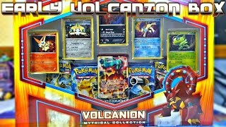 getlinkyoutube.com-EARLY VOLCANION MYTHICAL COLLECTION BOX OPENING | Pokemon Cards