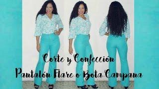 getlinkyoutube.com-Corte y Confección Pantalón Flare  - Tutorial de SANDRA PADILLA