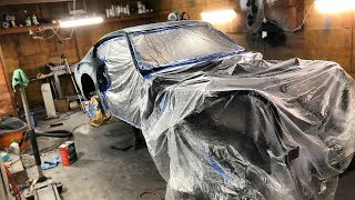 Unveiling The 240z Wrap Color, Undercoating The Body, And Engine Work!! width=