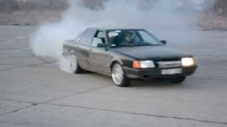 getlinkyoutube.com-Audi 100 2.5TDI RWD drift Rumbula. Kaross chip