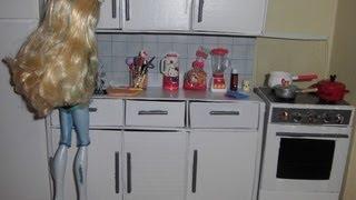 getlinkyoutube.com-Como fazer um balcão com pia de cozinha para boneca Monster High, Pullip, Barbie e etc