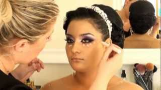 getlinkyoutube.com-מריה מסלרסקי - איפור כלה Maria Maslarski Arabic Black Purple Khaleeje makeup 2013