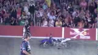 Red Bull X-Fighters Eigo Sato accident Madrid