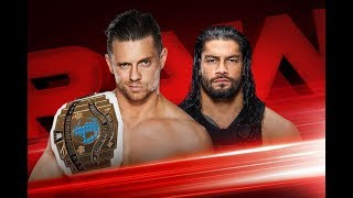 wwe Raw 22 jan 2018 Miz Vs Roman For Ic Title