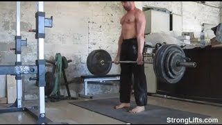 Mehdi From StrongLifts Deadlifting 400lb For Reps