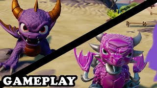 Skylanders Superchargers - Spyro & Cynder Gameplay - TRUE LOVE TEAM