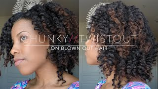 """getlinkyoutube.com-Twistout on Blown Out """"Natural Hair"""""""