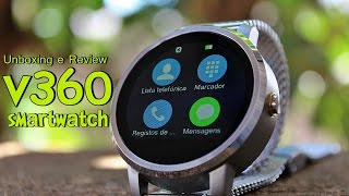 getlinkyoutube.com-Unboxing e Review SmartWatch v360 - Android e iOS [Português Brasil]
