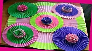 getlinkyoutube.com-Украшаем Дом, Комнату Своими Руками На Новый Год. Как Сделать Оригами Веер Из Бумаги. DIY Room Decor