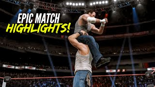 getlinkyoutube.com-WWE 2K15 Extreme Rules 2015 Dean Ambrose vs Luke Harper | Epic Match Highlights!