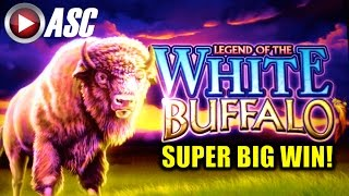 getlinkyoutube.com-*SUPER BIG WIN!* LEGEND OF THE WHITE BUFFALO | Slot Machine Bonus (Cadillac Jack / AGS)