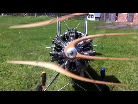 Evolution 7 Cylinder Radial Engine for RC Aircraft / Aeroplane, Review ...