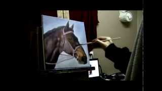 getlinkyoutube.com-How to Paint a Horse Portrait - Acrylic Painting Lesson