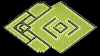 getlinkyoutube.com-Clash of Clans - Th10 Trophy Base (275 walls)