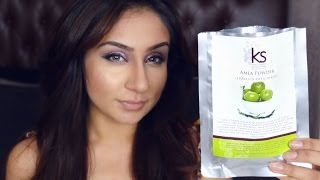 getlinkyoutube.com-Review Amla Powder Hair Treatment Grow Hair Prevent Hair Loss || Raji Osahn