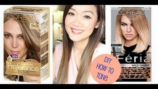 getlinkyoutube.com-DIY : How to Tone Brassy Hair (after using Loreal Feria Wild Ombre)