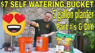 getlinkyoutube.com-$7 Dollar Self Watering Bucket - DIY How-To make Each Container $1 - $7