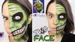 getlinkyoutube.com-Two Face (Batman) Green Makeup Tutorial by EyedolizeMakeup