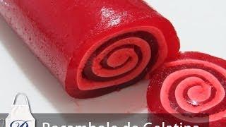 getlinkyoutube.com-Rocambole de Gelatina com Marshmallow