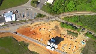 Yuneec Q500+ Flight - Construction Site (With Crash) in HD
