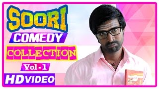 getlinkyoutube.com-Soori Comedy Scenes | Latest Tamil Movies | Parotta Soori | Comedy Jukebox | Vol 1