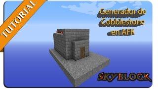 getlinkyoutube.com-Generador de Cobblestone en AFK para tu Skyblock 1.7-1.8+