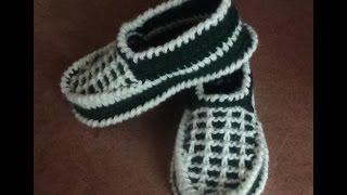 getlinkyoutube.com-Утепляем ножки - вяжем тапочки