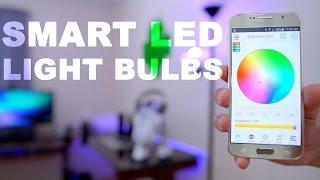 getlinkyoutube.com-Smart LED Light Bulbs 💡 Bluetooth