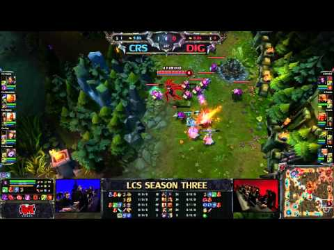 Curse vs Dignitas - LCS 2013 NA Spring W1D1 (English)