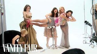 getlinkyoutube.com-Emily Mortimer, Zooey Deschanel, Elizabeth Banks & Paul Rudd's Vanity Fair Photo Shoot