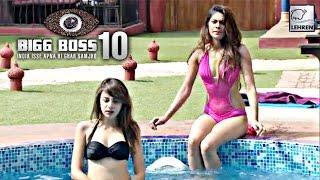 getlinkyoutube.com-Bigg Boss 10 Day 47: Lopamudra & Nitibha's BIKINI Moment In Pool   Lehren Small Screen