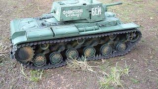 getlinkyoutube.com-RC-Tank  KV-1,1/16, Off Road Test, Clark Tk22, Metall Version,