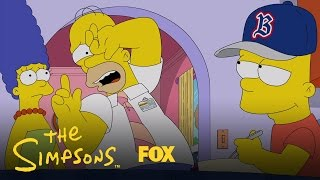 getlinkyoutube.com-Homer Is Shocked To Find Bart Wearing The Opposing Team's Gear | Season 28 Ep. 3 | THE SIMPSONS