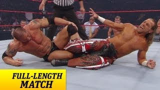 FULL-LENGTH MATCH - Raw - Batista vs. Shawn Michaels - Lumberjack Match