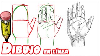 getlinkyoutube.com-como dibujar una mano (la palma)