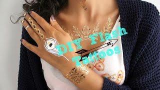 getlinkyoutube.com-3 طرق لاستعمال الوشم المؤقت : Flash tattoos