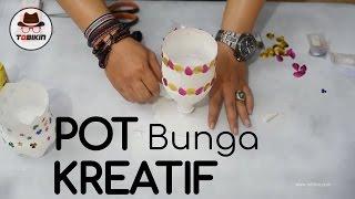 getlinkyoutube.com-Membuat Pot Bunga dari Botol Bekas (bunga kamu jadi rapi dan indah)