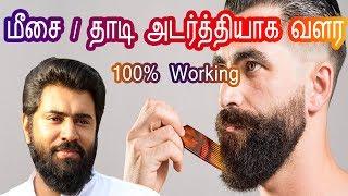 Mesai thaadi valara Tips|மீசை தாடி வேகமாக அடர்த்தியாக வளர|Mustache & Beard growing tips in Tamil