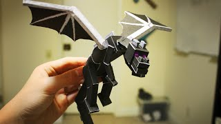 How to make a Paper Ender Dragon!