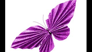 getlinkyoutube.com-Awesome Paper Butterfly. Easy to do. Room decoration. Valentine's ideas