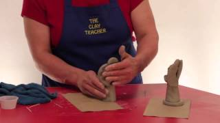 getlinkyoutube.com-Making a Clay Angel with Air Dried Pottery Clay with The Clay Teacher