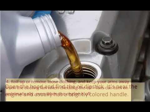 HONDA CR V III  2006 10 How to add motor oil