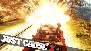 getlinkyoutube.com-JUST CAUSE 3 TANK ON A TRAIN :: Just Cause 3 Campaign Funny Epic Moments