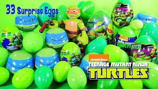 33 Easter Surprise Eggs LEGO Teenage Mutant Ninja Turtles Half-Shell Heroes Nickelodeon