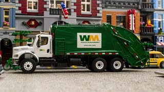 getlinkyoutube.com-First Gear Freightliner M2 - McNeilus Rear Load Garbage Truck