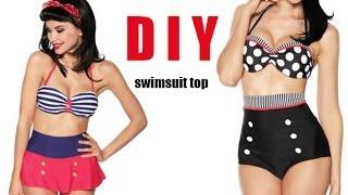 getlinkyoutube.com-DIY Swimsuit top (easy)