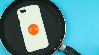 getlinkyoutube.com-DIY   Fried Egg Phone Case Tutorial - Cover Uovo Fritto